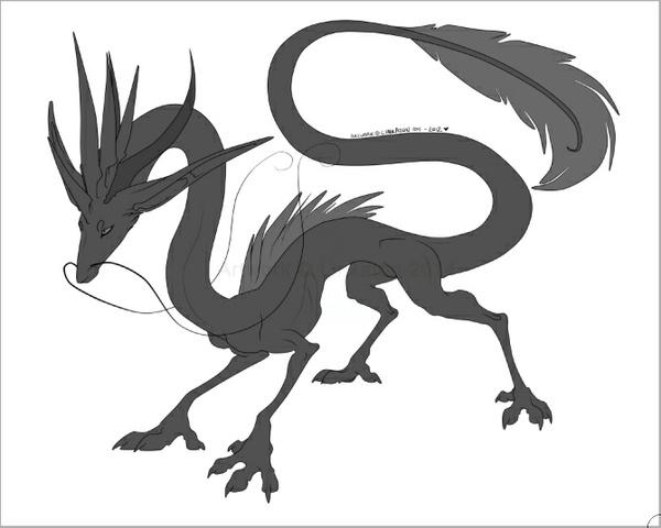 Eastern Dragon Lineart BASE
