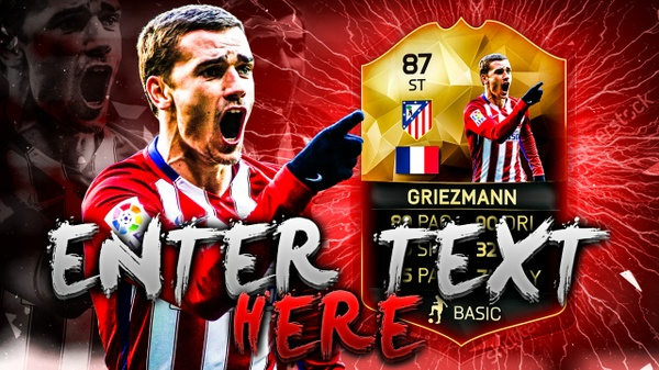 FIFA 16 Griezmann Thumbnail Template TOTW 25