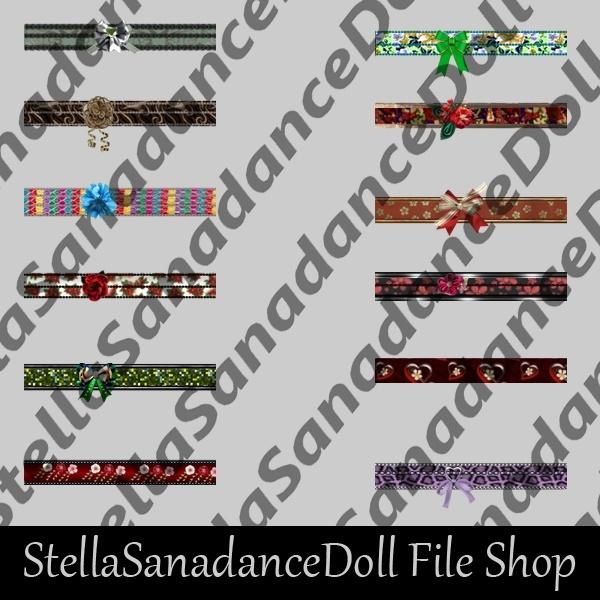 S174 Geisha Belts, 100 Addons, NO RESELL