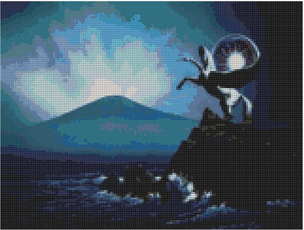 cross stitch pattern Glb-040c