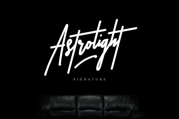 Astrolight Signature Font