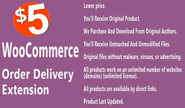 WooCommerce Order Delivery Extension
