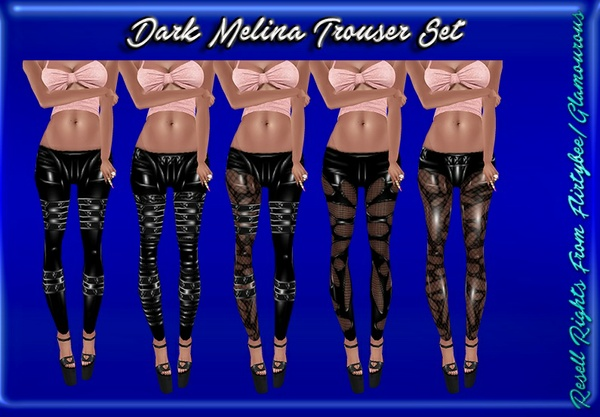 Dark Melina Trouser Set Catty Only!!!