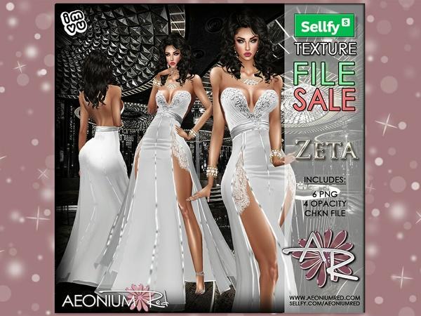 Zeta Silver Gown - IMVU AeoniumRed Texture File Sale