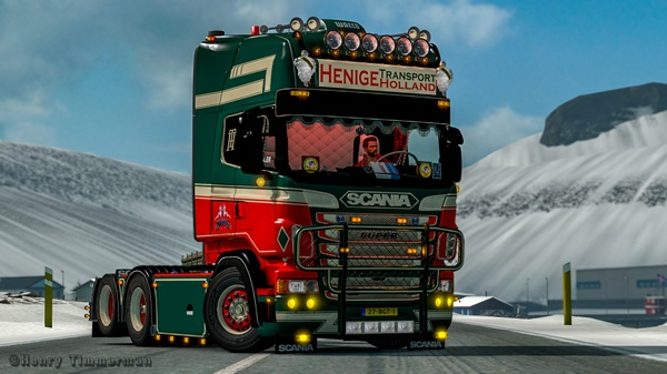 Bullbar for Scania RJL R (Euro Truck Simulator)