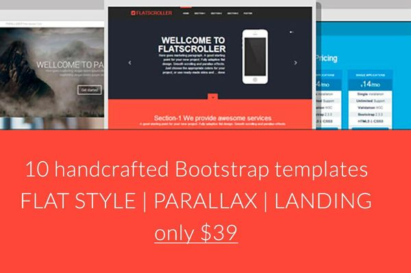 10 Bootstrap handcrafted templates only $39