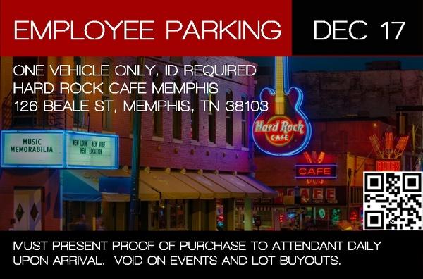 Hard Rock Memphis Employee Permit - December 2017