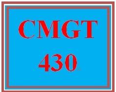 CMGT 430 Week 5 Learning Team Enterprise Security Plan Paper