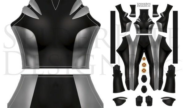 X-23 Black/Grey suit