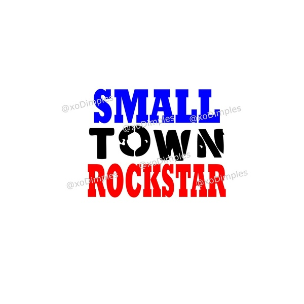 Kid SVG, Small Town Rockstar SVG