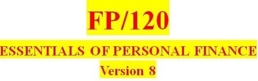 FP 120 Week 5 Understanding Taxes Worksheet