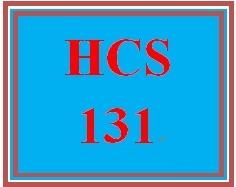 HCS 131 Week 1 Skills Summary