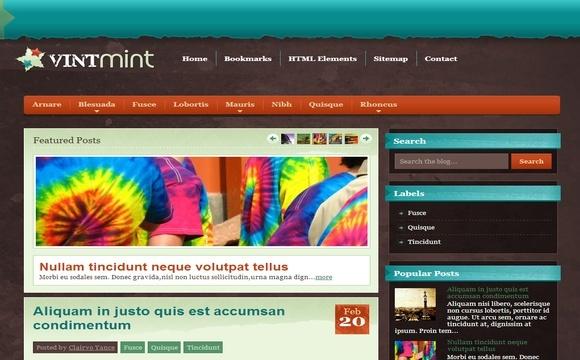VintMint Blogger Template Premium Version
