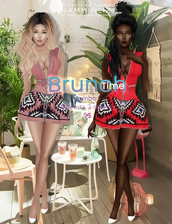 Brunch time combo1 ( imvu Bibirasta 2 dresses ) all sizes