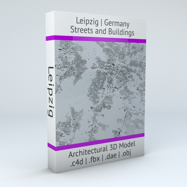 Leipzig Streets and Buildings Architectural 3D Model