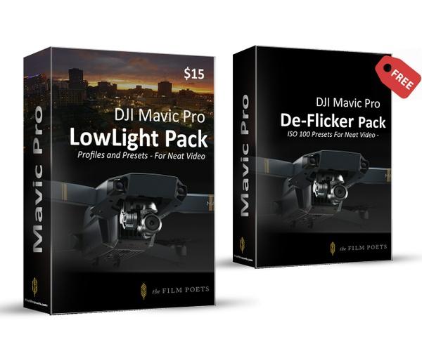 Low Light Profile & Preset Bundle for DJI Mavic Pro & Neat Video