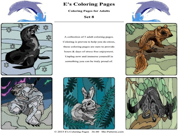 E's Coloring Pages - Set 8