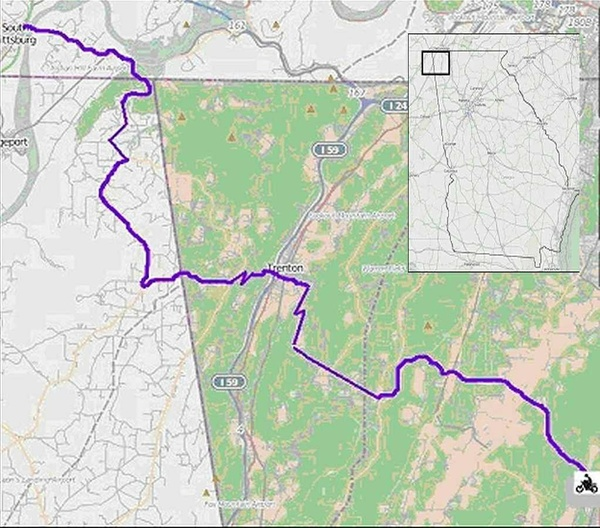 North Lafayette to South Pittsburg (Georgia / Alabama / Tennessee)