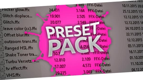 Personal Preset Pack
