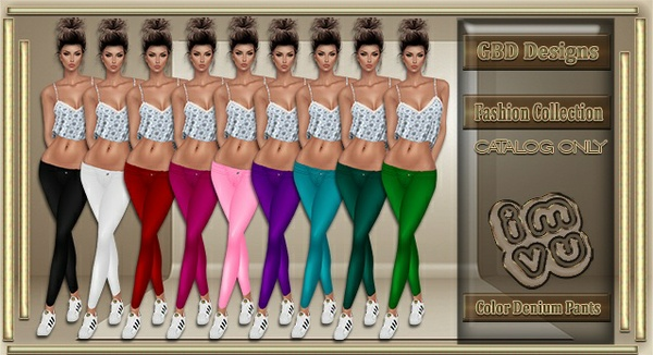 Color Denium Pants CATALOG ONLY!!