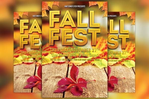 Fall Fest Flyer Template