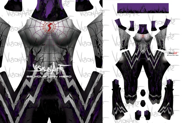 Silk Symbiote Dark Version