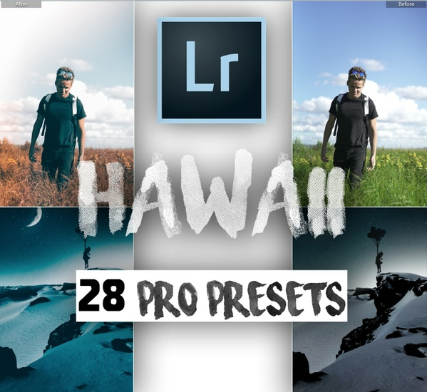 """HAWAII PRO"" 28 Pro Travel Lightroom Presets (Inspired by; Sam Kolder, Taylorcutfilms, Mark Dohner)"