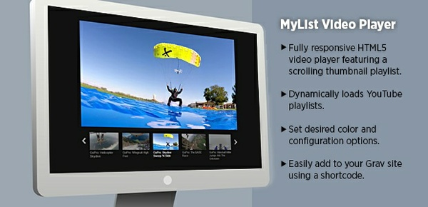 MyList Video Player - Grav Plugin