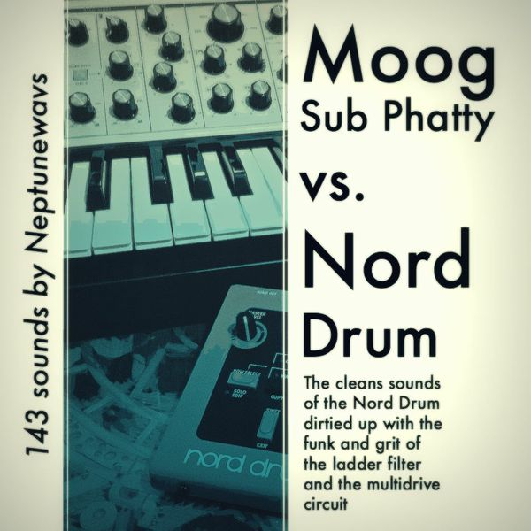 Nord Drum vs. Moog Sub Phatty Drum Samples