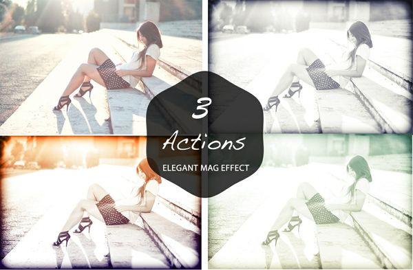 Elegant Fashion Mag Effect Photoshop Actions