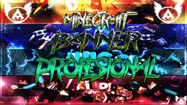 Banner Profesional Minecraft