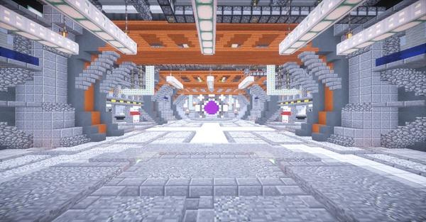 [Minecraft] Space Industry - Interior Lobby / Hub