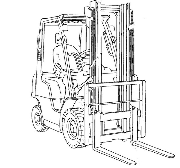 Nissan Forklift Internal Combustion 1F1 / 1F2 Series Service Repair Manual Download