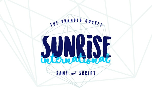 Sunrise International (Typeface)