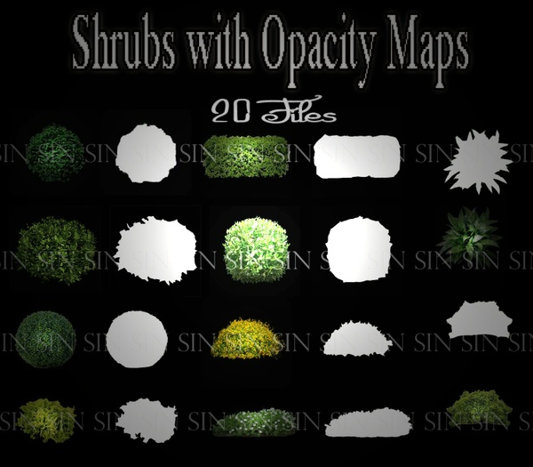 Shrubs with Opacity Maps