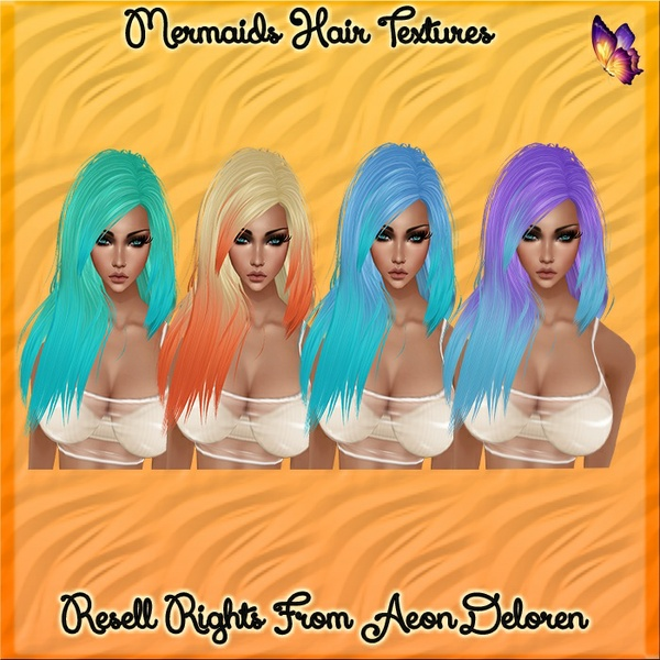 Mermaid Hair Texture Set Catty Only!!!