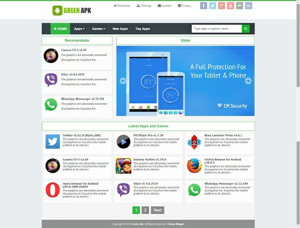 Template Blogger GreenApp