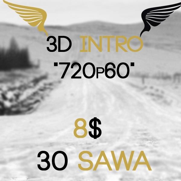 """3D intro """"720p60"""""""