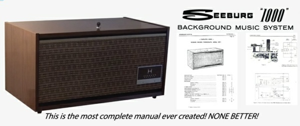 Seeburg 1000, Background Music System, SEP1 Encore, 1965, Engineer's Manual