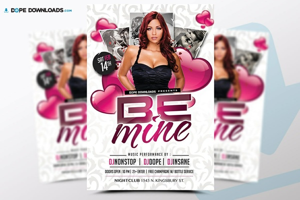 Be Mine V-Day FREE Flyer