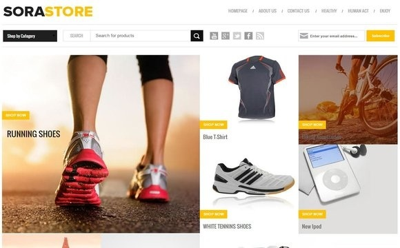 Sora Store Blogger Template Premium Version