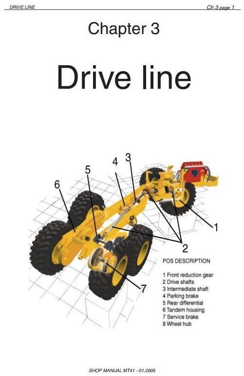Doosan Articulated Dump Truck Type Moxy MT36 Workshop Service Manual