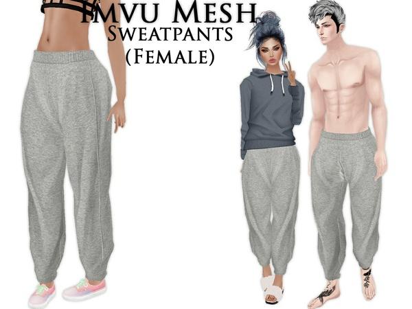 IMVU Mesh - Bottoms - Sweatpants (female)