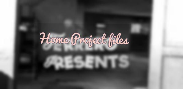 Home Project file .