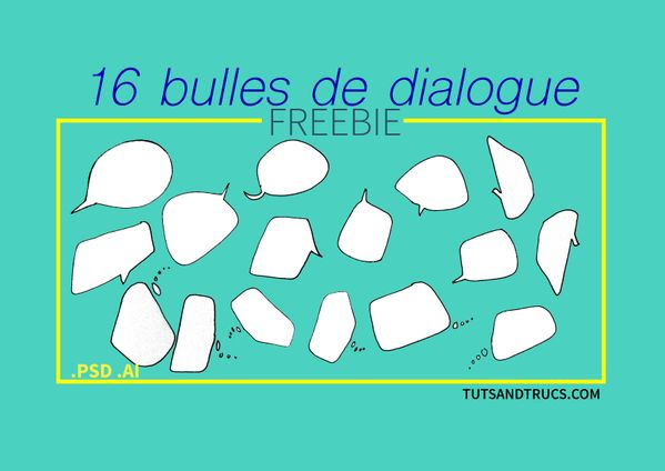 FREE 16 bulles de dialogue / speech ballons