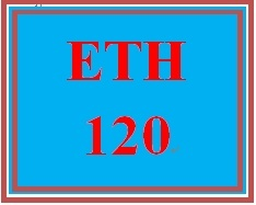 ETH 120 Week 1 Myths and Stereotypes