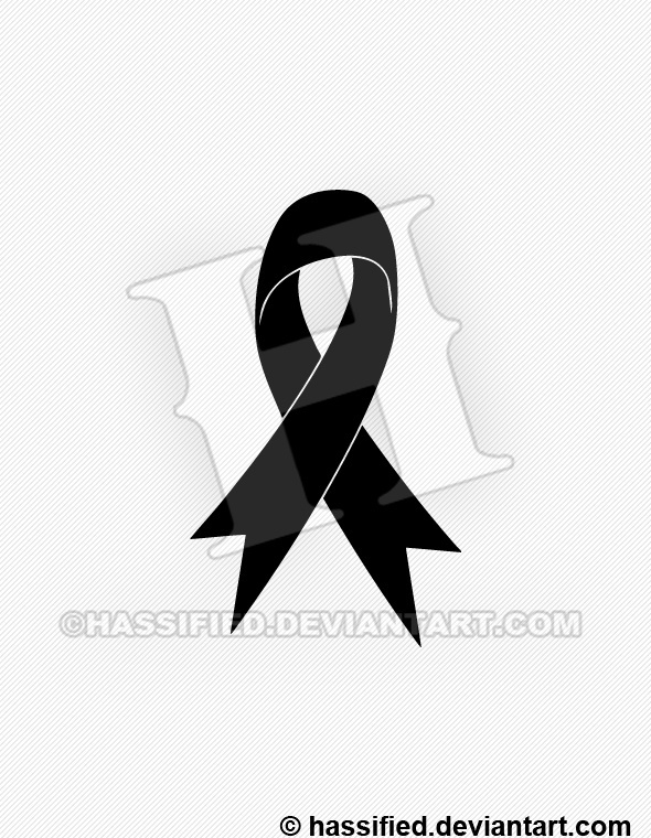 Support Ribbon Silhouette - printable, vector, svg, art