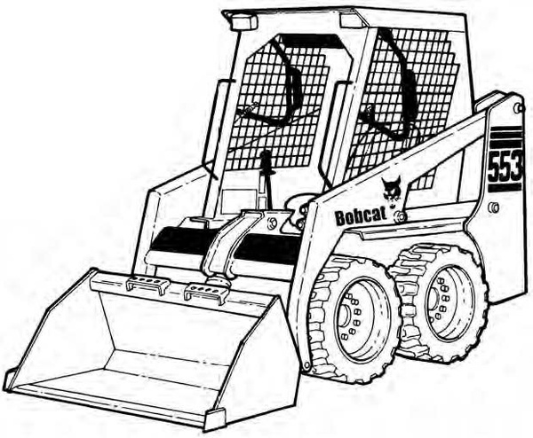 Bobcat 553 Skid-Steer Loader Service Repair Manual Download 4