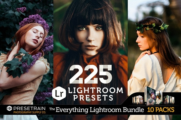 225 Lightroom Presets Bundle - The Everything Lightroom Bundle by Presetrain Co.