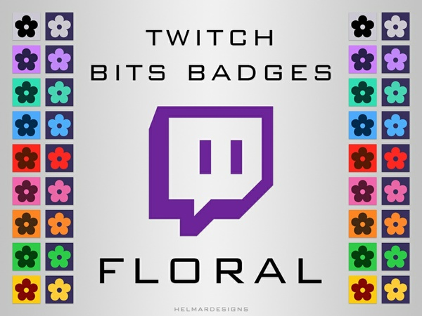 Twitch Bits Badges - Floral